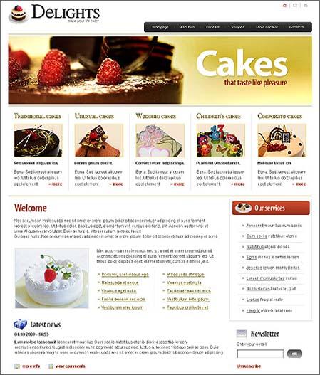 Cake Design Web Templates : 10 Beautiful Cake Website Templates Singapore F&B Design ...