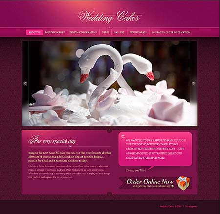 10 Beautiful Cake Website Templates Singapore F&B Design ...