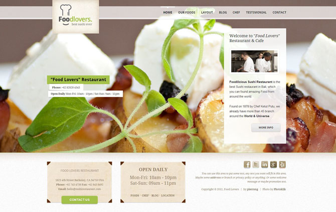 responsive-wp-theme-foodlovers