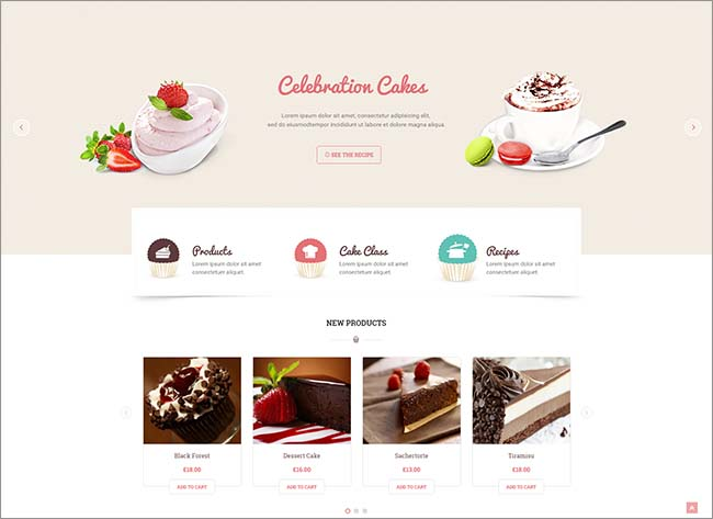 Beautiful Cake Website Templates Singapore F&B Design Agency