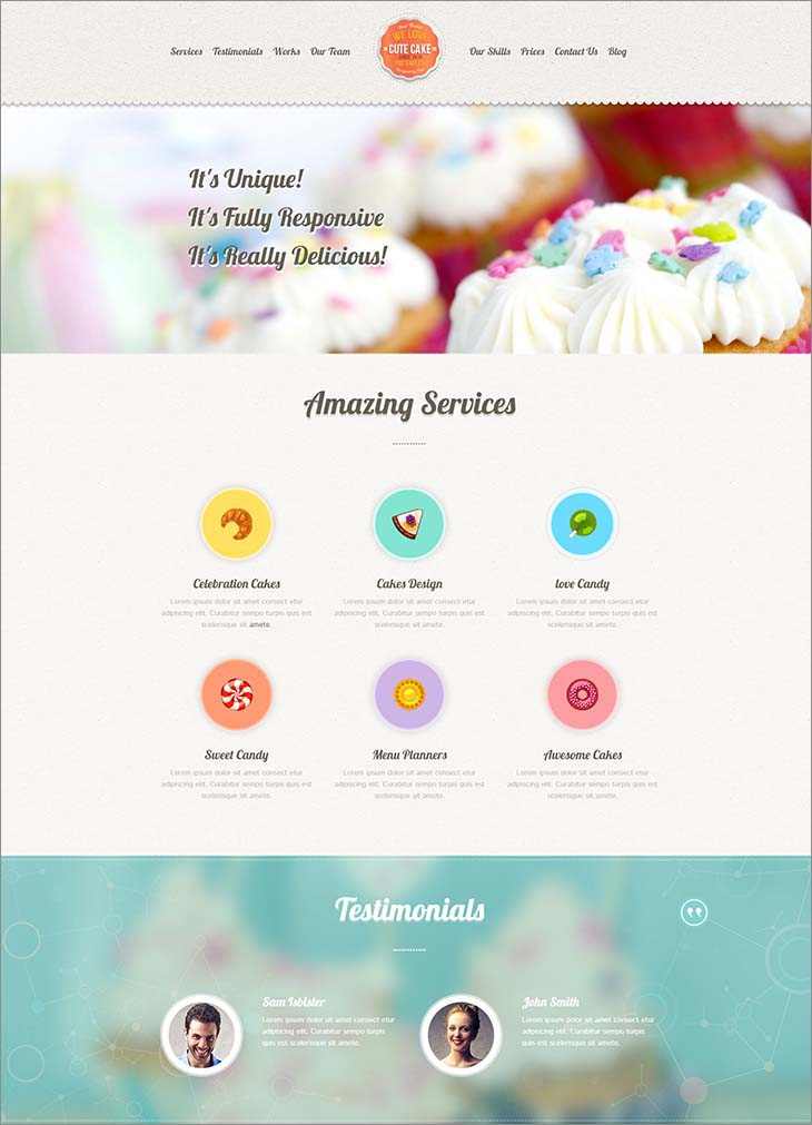 cake-website-templates-cute-cake