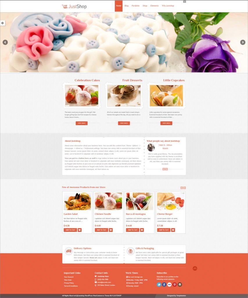 Cake Store Website Template