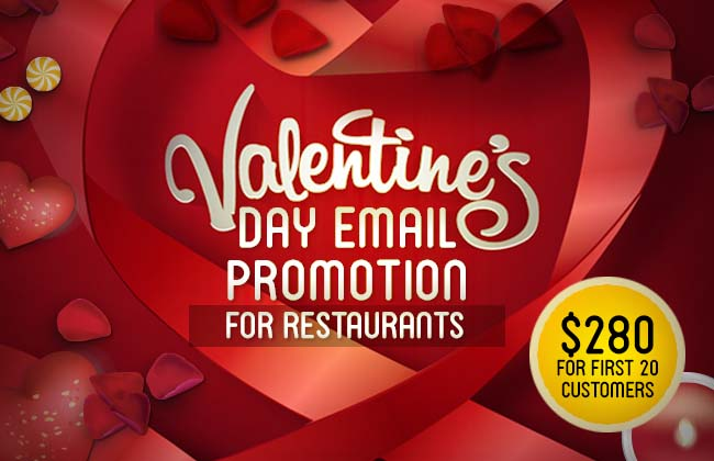 Valentine S Day Email Promotion Singapore F Amp B Design Agency